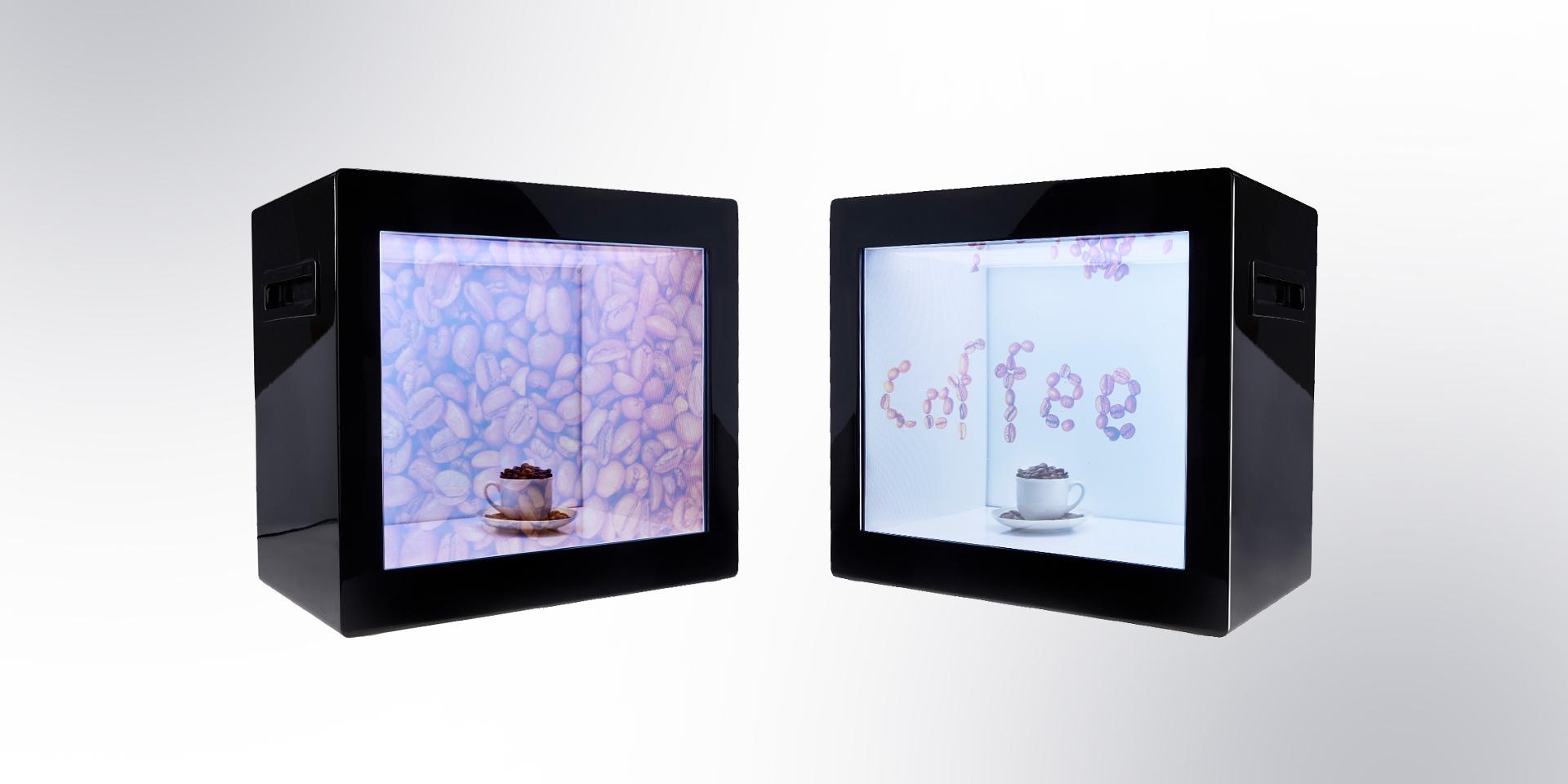 Volltransparente Bildschirme am POS - Zweyloeven Werbeproduktion GmbH