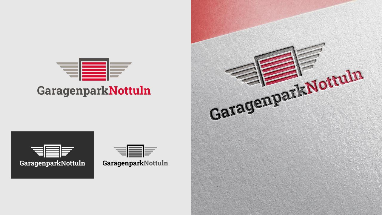 Garagenpark Nottuln - Logo - Referenz - Zweyloeven Werbeproduktion GmbH