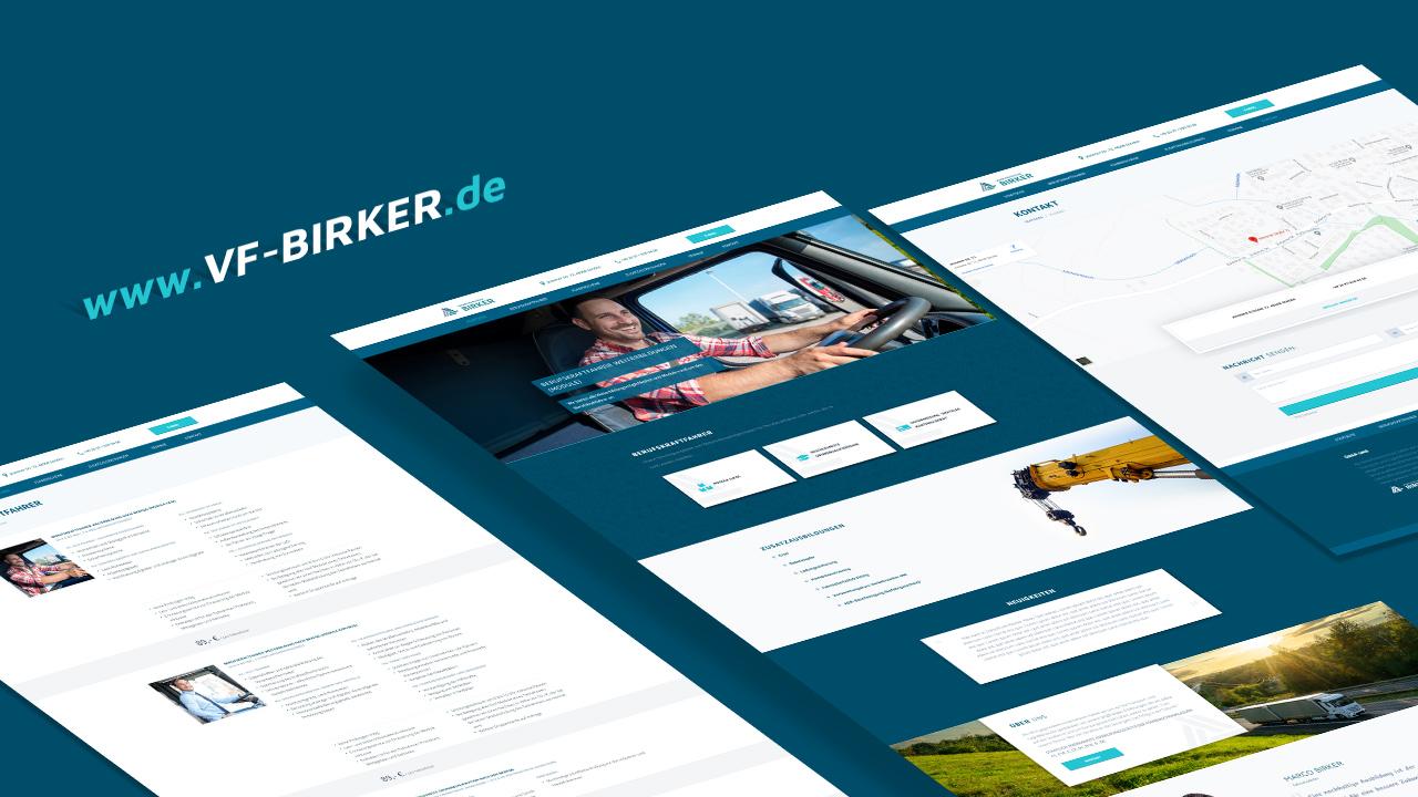 Verkehrsfachschule Birker - Webseite - Referenz - Zweyloeven Werbeproduktion GmbH
