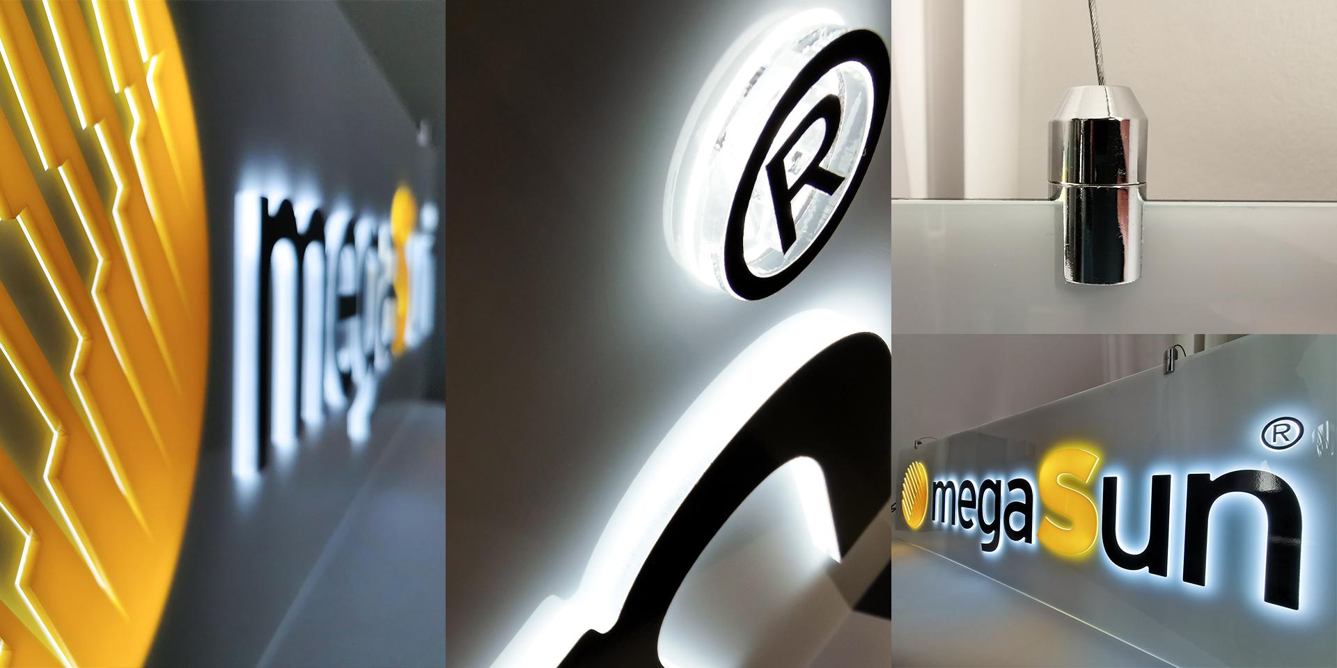 megaSun – Acrylschild mit LEDs – Zweyloeven Werbeproduktion GmbH