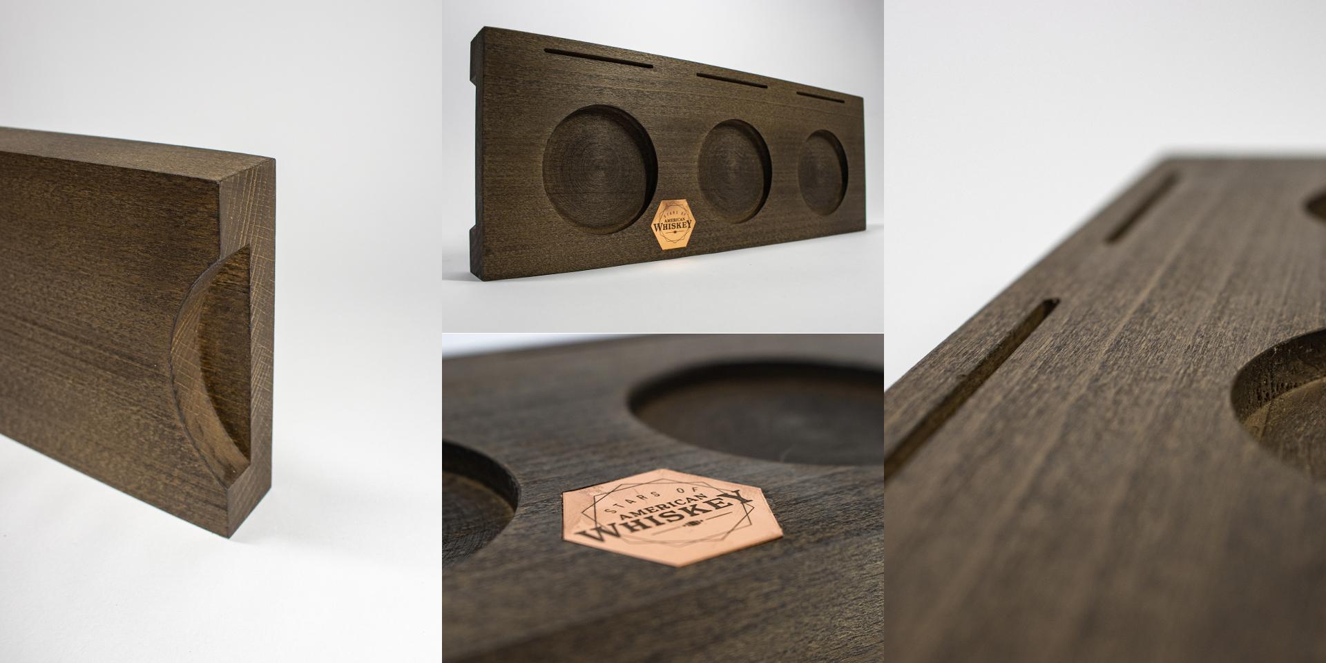 Tastingtray aus Holz – Zweyloeven Werbeproduktion GmbH